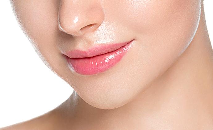 唇の厚みを調整
